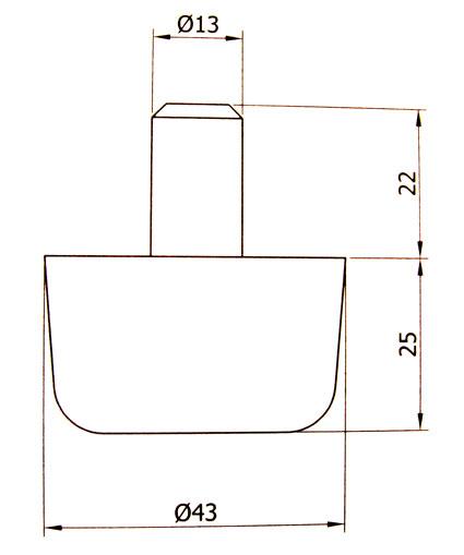patin pied glisseur pour meuble en plastique reforc x10 ebay. Black Bedroom Furniture Sets. Home Design Ideas